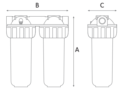Picture showing the dimension of the filter kit