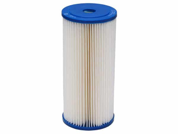 "Picture of Harmsco 10"" x 4.5"" 5 micron sediment filter used in the twin 10"" big blue rainwater filter kit"